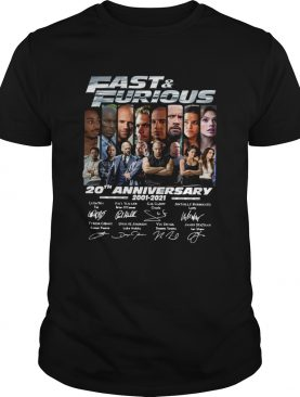 Fast And Furious 20th Anniversary 2001 2021 Signatures shirt