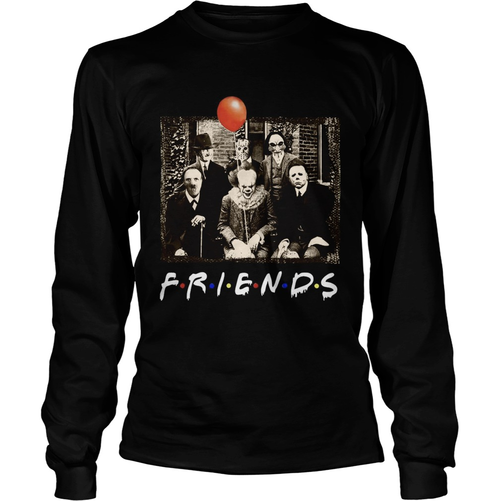 Horror Movie Characters Friends TV Show  Long Sleeve