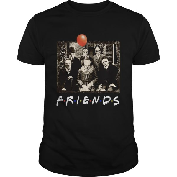 Horror Movie Characters Friends TV Show shirt