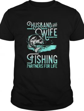 Husband and wife fishing partners for life black shirt