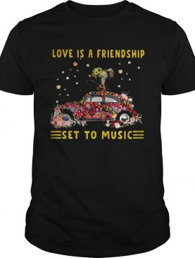 Love Is A Friendship Set To Music Elephant Hippie shirt