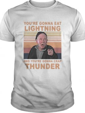 Mickey entrenador de rocky youre gonna eat lightning and youre gonna crap thunder vintage retro s