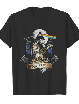 Pink floyd band jack skellington playing guitar shirt