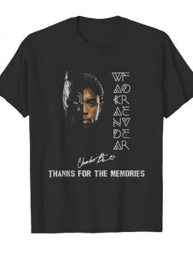 Rip Chadwick Boseman Black Father 1977 2020 Signature Thank You For The Memories shirt