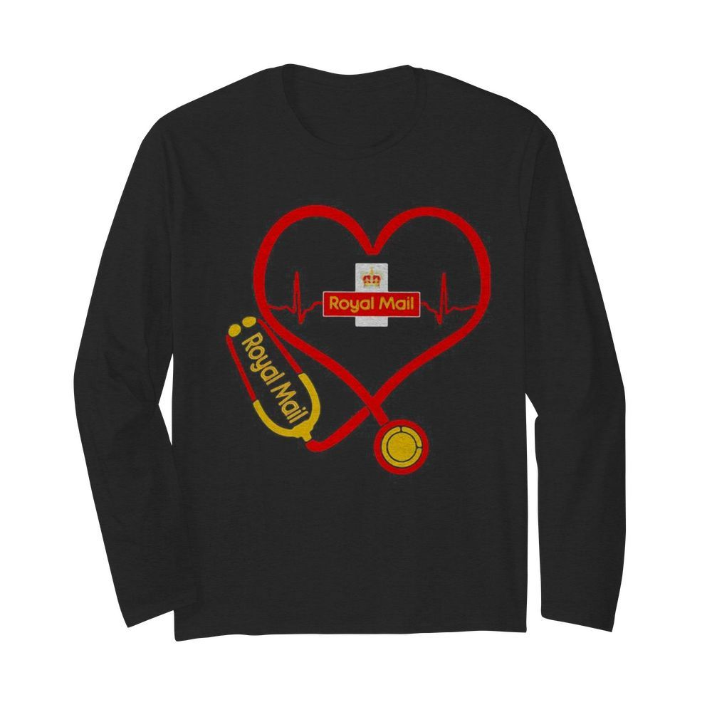 Royal Mail nurse stethoscope love heartbeat  Long Sleeved T-shirt