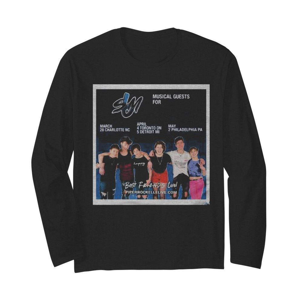Sm musical guest for best friends live piperrockellelive  Long Sleeved T-shirt
