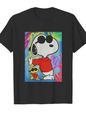 Snoopy and woodstock art shirt