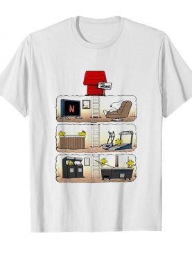 Snoopy and woodstock stay home shirt
