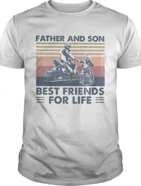 Snowmobile Father and son best friends for life vintage retro shirt