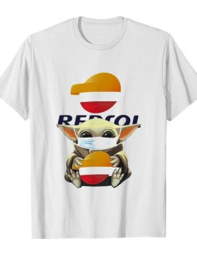 Star wars baby yoda mask hug repsol shirt