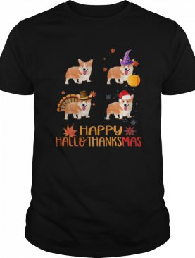 Awesome Corgi Happy Hallothanksmas shirt