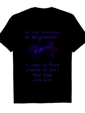 Black Panther In My Culture Death Is Not The End Purple shirt