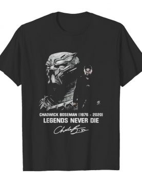 Black panther rip chadwick 1977 2020 legends never die signature shirt