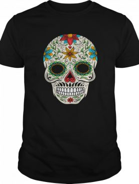 Floral Sugar Skull Day Of The Dead shirt