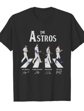 The houston astros baseball crossing the line signatures shirt