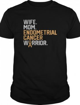 Wife Mom Endometrial Cancer Warrior Awareness Get Well shirt
