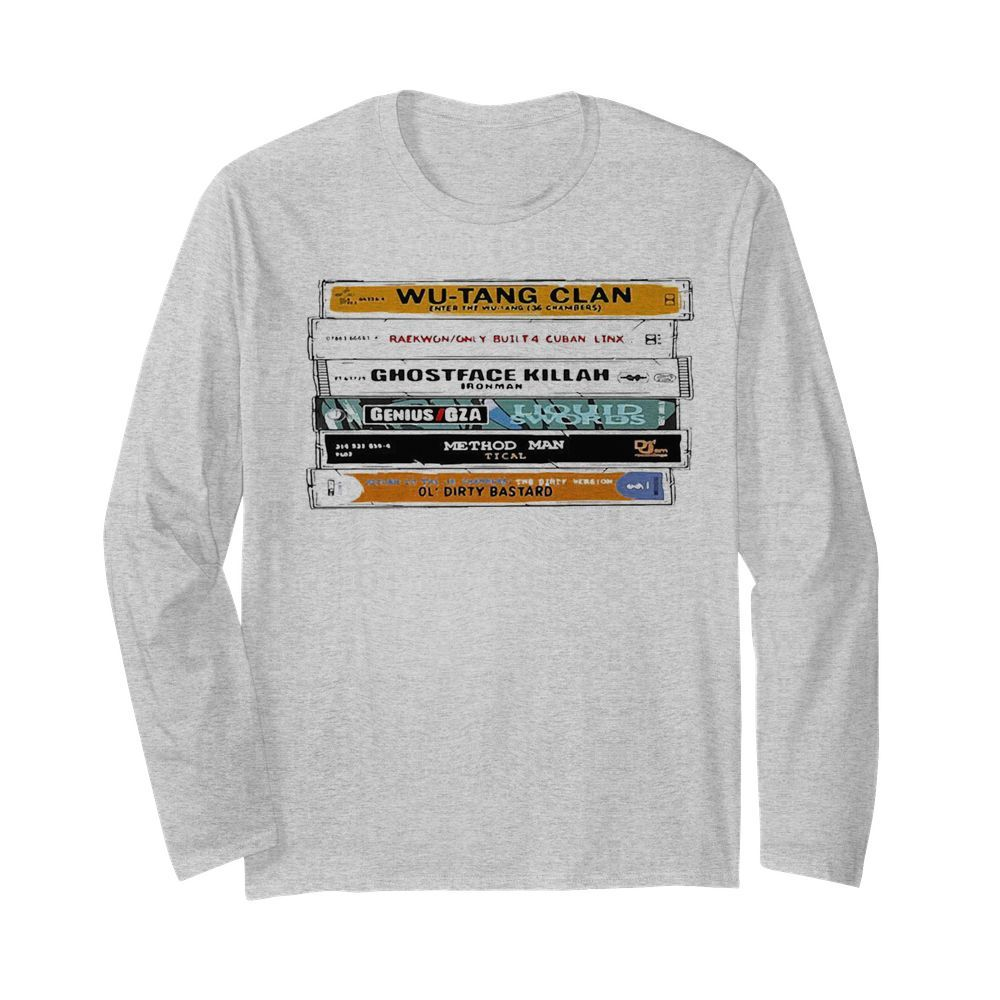 WuTang Sticker The Wu Tapes Hand Illustrated  Long Sleeved T-shirt
