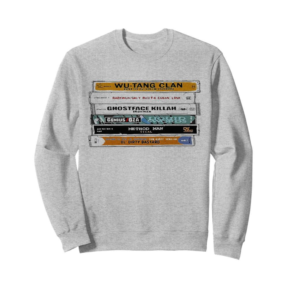WuTang Sticker The Wu Tapes Hand Illustrated  Unisex Sweatshirt