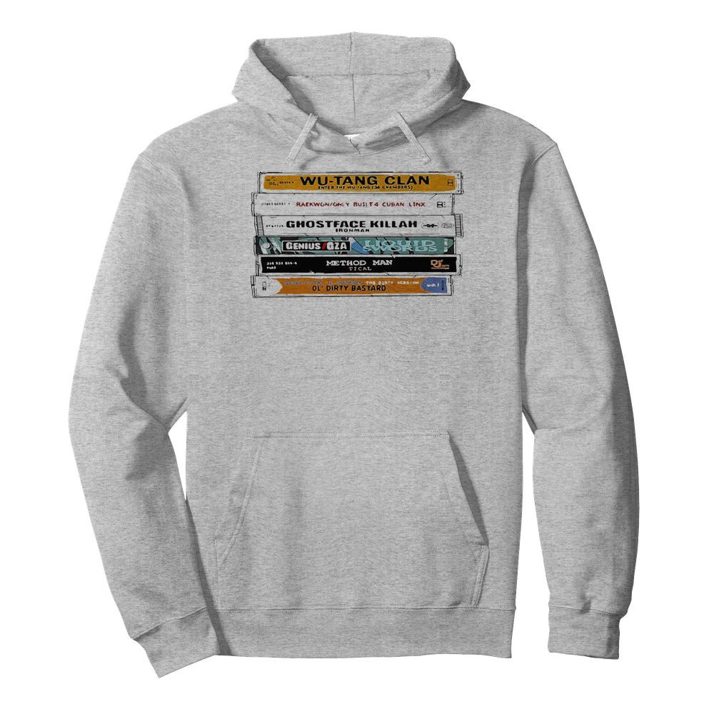 WuTang Sticker The Wu Tapes Hand Illustrated  Unisex Hoodie