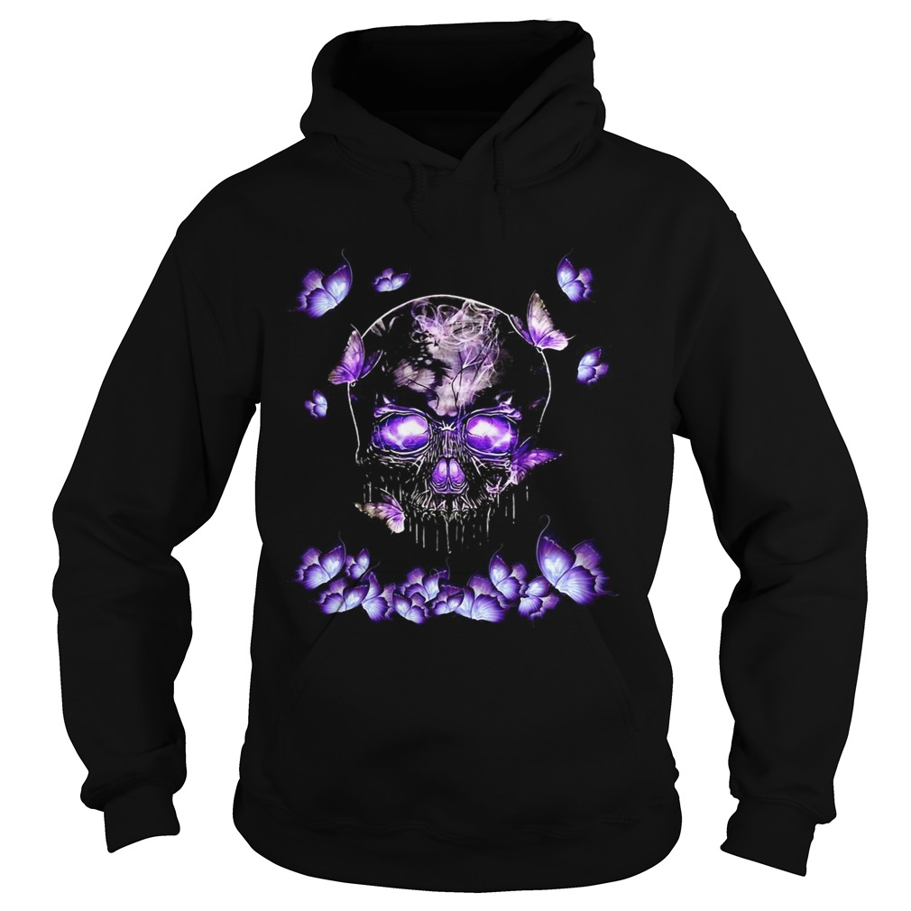 Butterfly Skull In Butterfly Magical  Hoodie