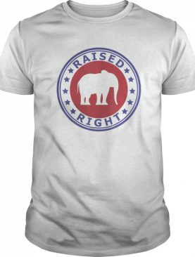 Raised Right Vote Trump Republican Elephant Politics shirt