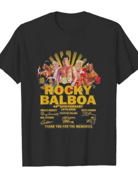 Rocky balboa 44th anniversary 1976 2020 thank for the memories signatures shirt