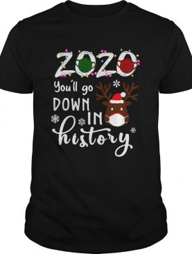 2020 Youll Go Down In History Christmas shirt