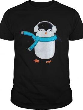 Cute Penguin Bird Headphone Christmas shirt