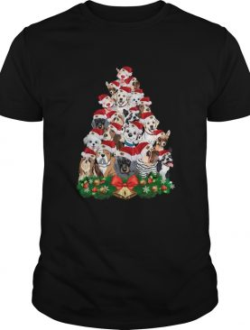 Dogs Tree Merry Christmas shirt
