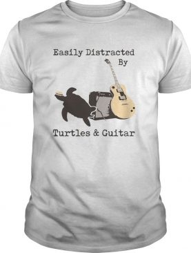Easily Distracted By Turtles And Guitar shirt