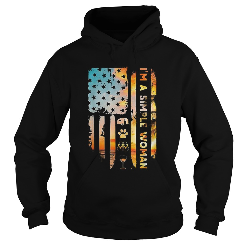 Im A Simple Camping Dog Flip Flop Wine Flag Copy 2 Hoodie