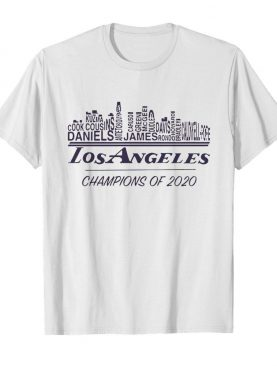 Los Angeles Champions Of 2020 Lakers LeBron James Lakers Players shirt