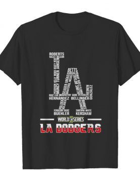 Los Angeles Dodgers World Series 2020 Name Player shirt
