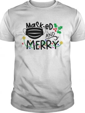 Mask ed and Merry Christmas 2020 shirt