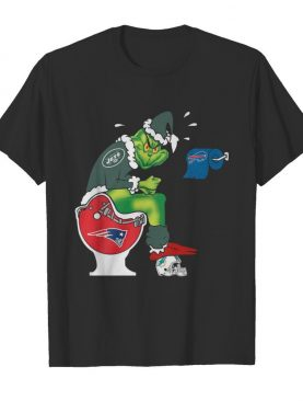 The Grinch New York Jets Shit On Toilet New England Patriots And Other Teams Christmas shirt