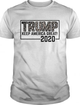 Trump 2020 keep america great election leopard shirt