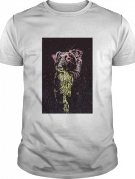 Border Collie Color Paint Vertical shirt