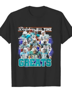Dolphins All Time Greats Team Play Signatures shirt