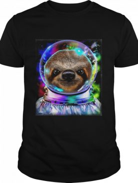 Giant Sloth As Astronaut Exploring Galaxy Space shirt