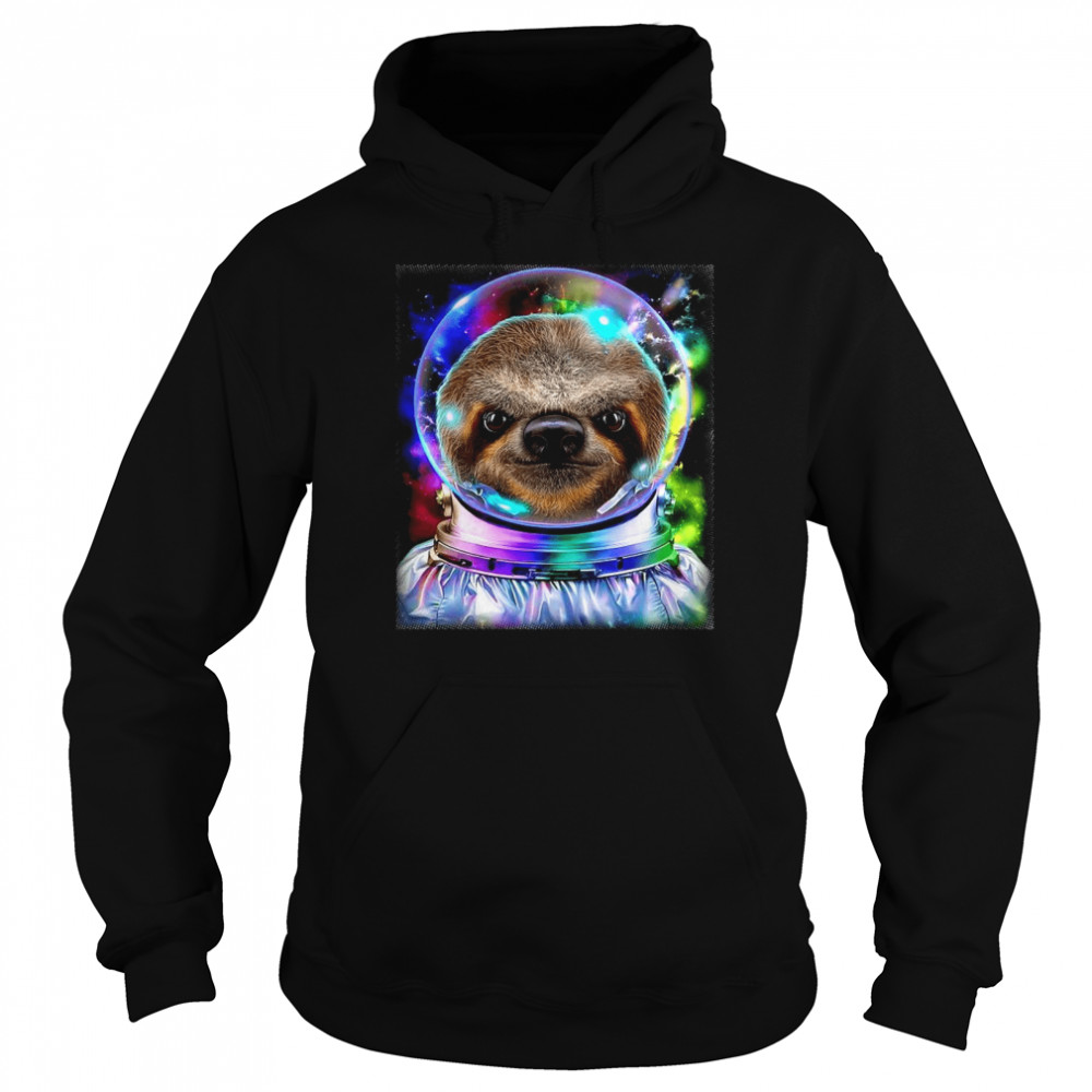 Giant Sloth As Astronaut Exploring Galaxy Space  Unisex Hoodie