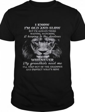 I know Im old and slow but Im always there waiting watching and keeping to the shadows shirt