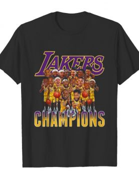 Los Angeles Lakers Team Champions 2020 shirt