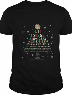 Pi 3.14159265 Tree Merry Christmas shirt