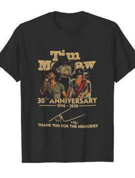 Tim Mcgraw 30th Anniversary 1990 2020 Thank You For The Memories Signature shirt