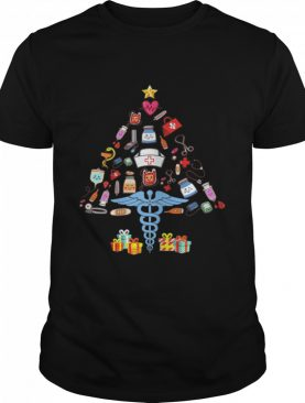 Tree Christmas Picture Medical Tools Doctor Xmas shirt
