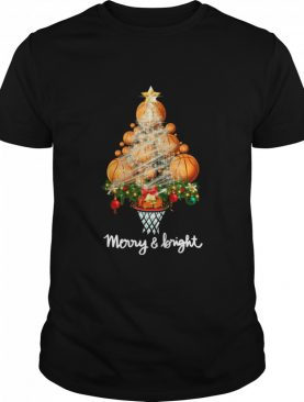 Volleyball Merry And Bright Christmas Tree shirt
