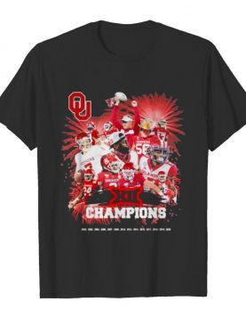 XII Champions Boomner Sooner Football Victory shirt