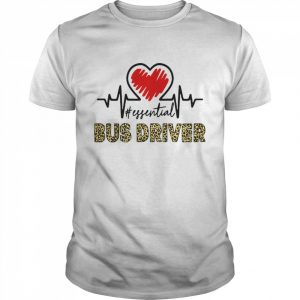 Bus Driver Heart Beat Leopard shirt