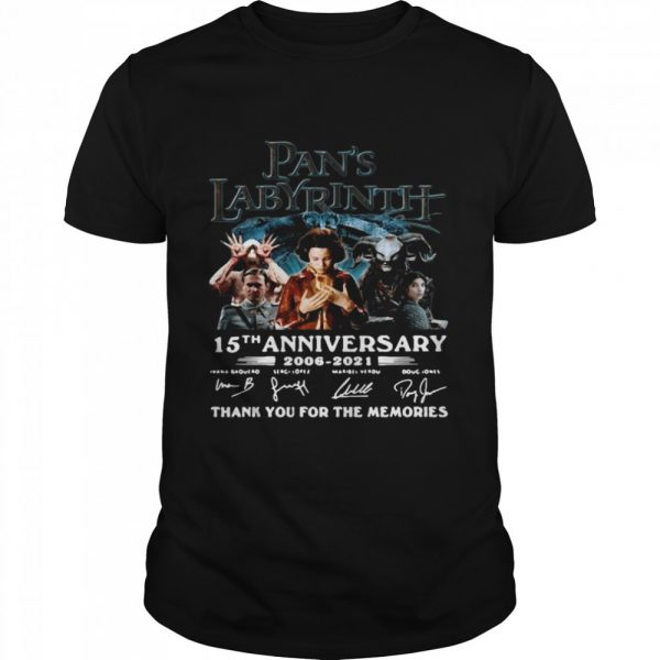 Great Labyrinth 15th Anniversary Thank You For The Memories Signatures shirt