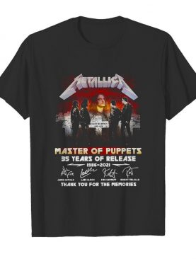 Metallica Master Of Puppets 35 Years Of Release 1986 2021 Thank You For The Memories Signature shirt